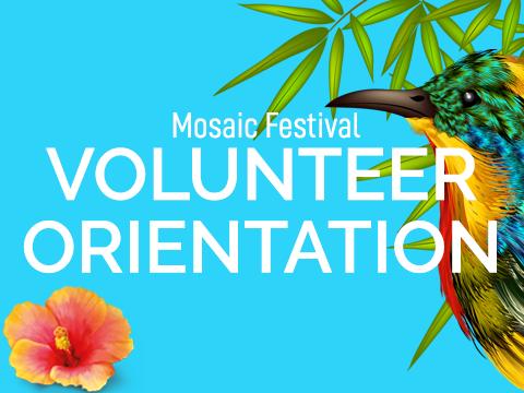 Mosaic Festival Volunteer Orientation