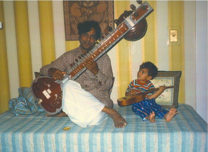Young Arjun on ukelele